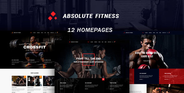Absolute Fitness - Fitness Multipurpose WordPress Theme