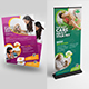 Pet Care Center Flyer with Rollup Bundle - GraphicRiver Item for Sale