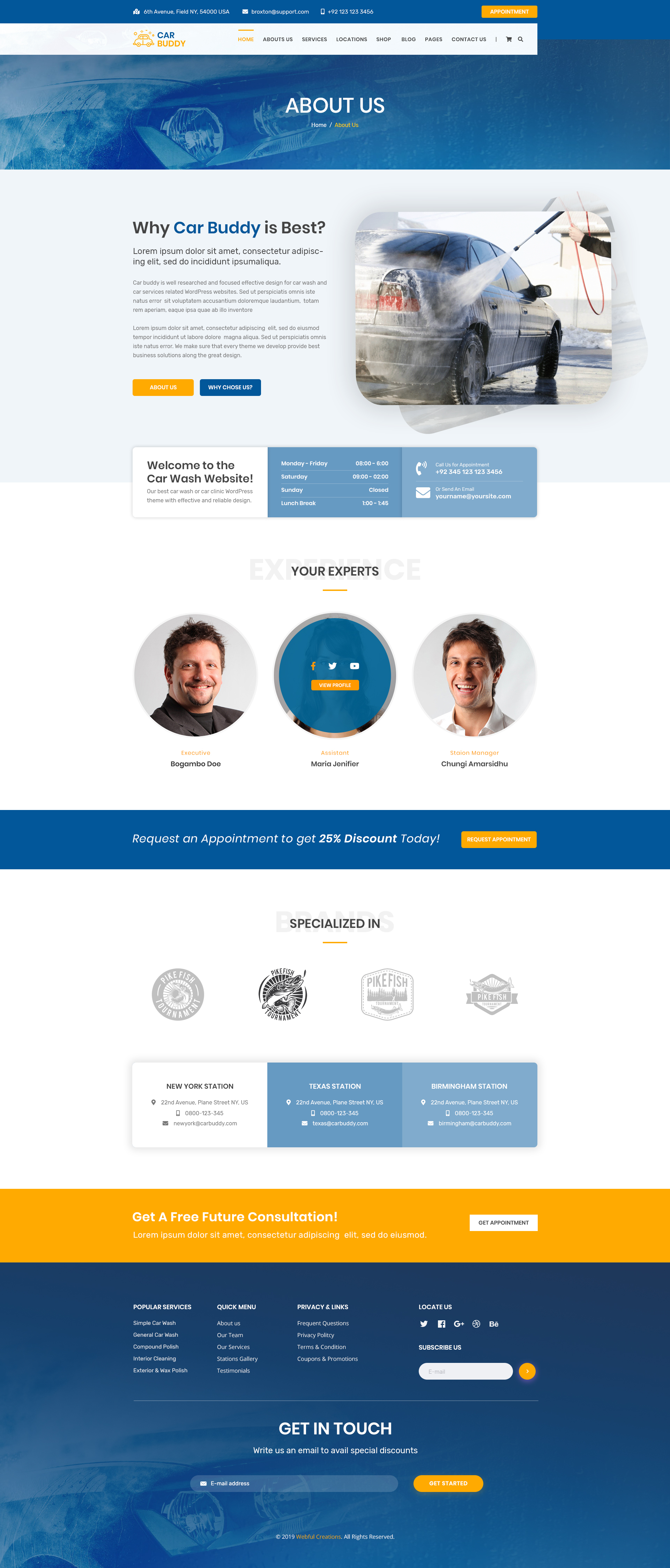 Autobuddy Car Wash Detailing Center Psd Template By Webfulcreations