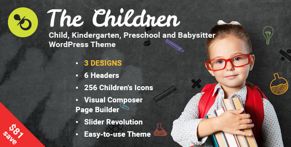 The Children - Child, Kindergarten and Babysitter WordPress Theme