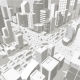 City Buildings Background Street In Light Gray - GraphicRiver Item for Sale