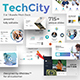 Techcity 3 in 1 Pitch Deck Bundle Powerpoint Template - GraphicRiver Item for Sale