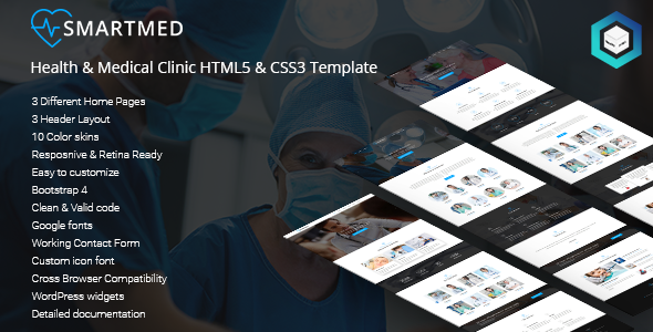 SmartMed – Health & Medical Clinic HTML5 & CSS3 Template