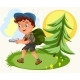 Cartoon Kids Following the Compass in Forest - GraphicRiver Item for Sale