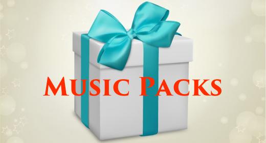 Music Packs (save 50%)