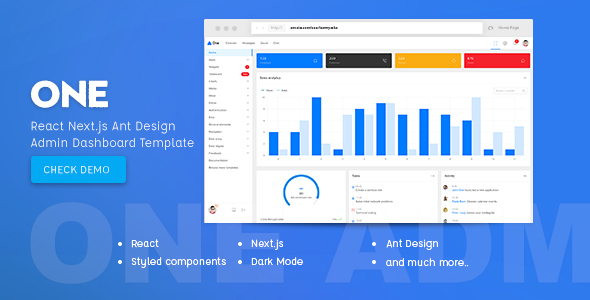 One - React Next.js & Ant Design Admin Template