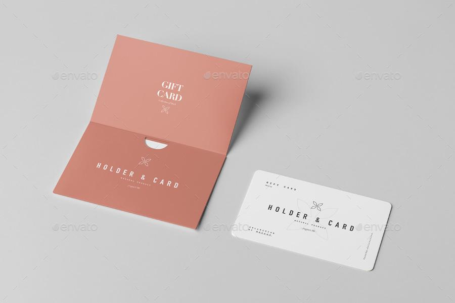 Holder Card Mock Up By Yogurt86 Graphicriver