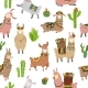 Llama Seamless Pattern. - GraphicRiver Item for Sale