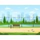 City Park. Garden Public Nature Park Urban Relax - GraphicRiver Item for Sale