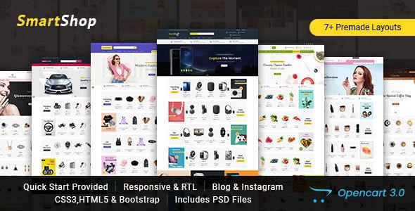 SmartShop – Multipurpose Opencart 3 Responsive Theme