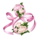 Vector 8 of March Eight Silk Ribbon Peony Flower - GraphicRiver Item for Sale