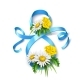 Vector 8 of March Eight Silk Ribbon Daisy Flower - GraphicRiver Item for Sale
