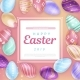 Easter Eggs Around Square with Inscription - GraphicRiver Item for Sale