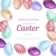 Easter Eggs Around Inscription - GraphicRiver Item for Sale