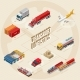 Scheme of Stages of Transport Logistics - GraphicRiver Item for Sale