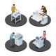Isometric Printing House Icons Concept - GraphicRiver Item for Sale
