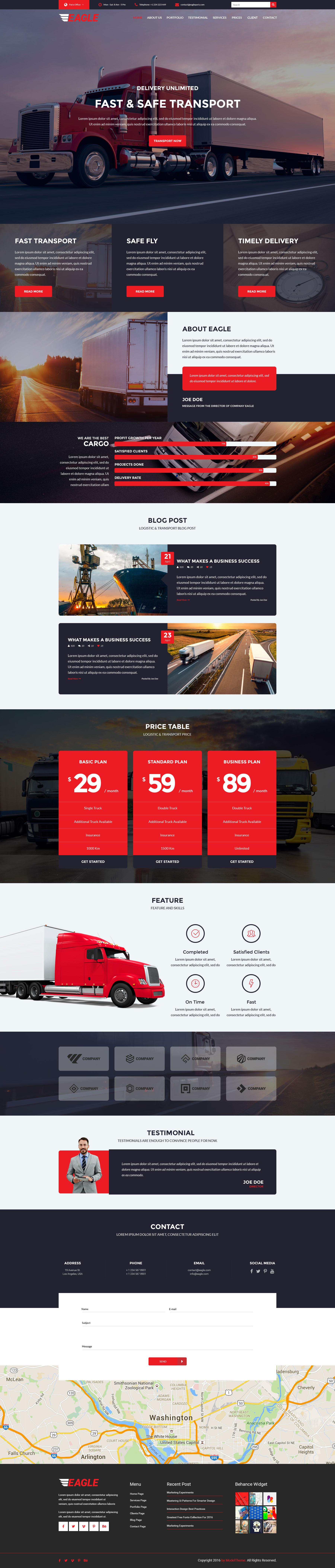 Eagle - Logistics, Cargo & Transportation WordPress Theme