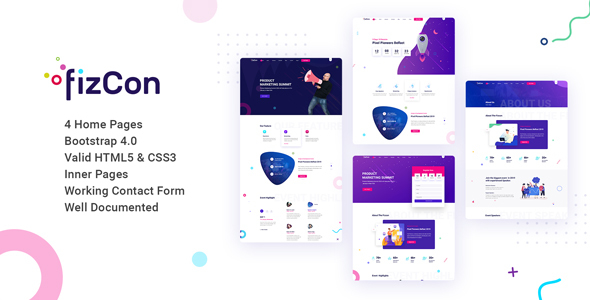 Fizcon – Event, Meeting & Conference HTML5 Template