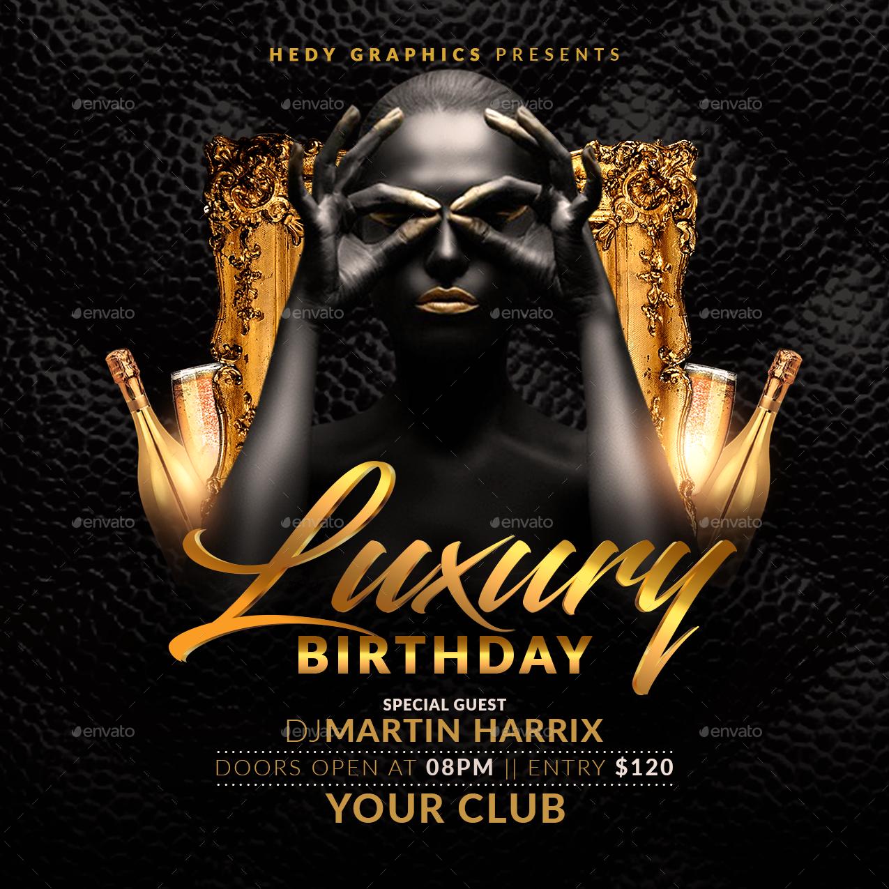 birthday bash flyer by hedygraphics