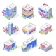 Mall Store Isometric Buildings - GraphicRiver Item for Sale