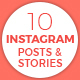 10 Instagram Posts & Stories - GraphicRiver Item for Sale