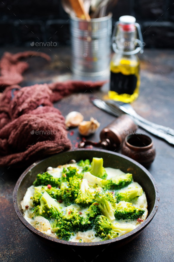 broccoli with eggs - Stock Photo - Images