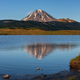 Stunning Volcano Landscape at Sunset: Reflection of Mountains in Alpine Lake - PhotoDune Item for Sale