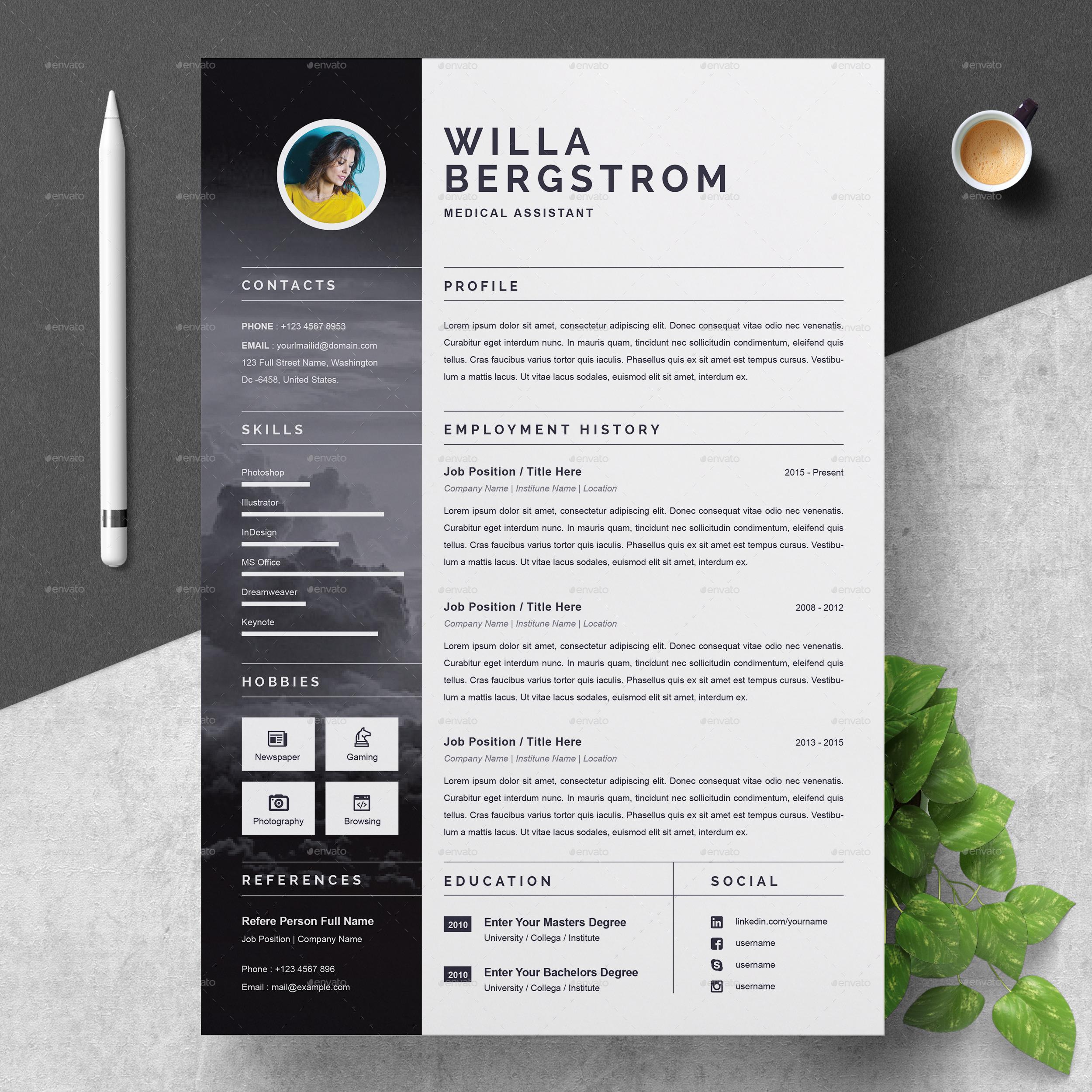 resume template by resumeinventor