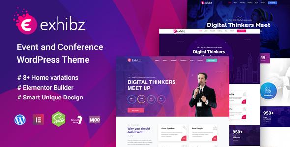 Exhibz - Conference Event WordPress Theme