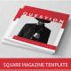 Square Magazine Template - GraphicRiver Item for Sale