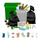 Garbage on White Background - GraphicRiver Item for Sale