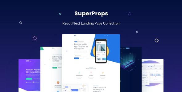 React Next - Modern React Landing Page Template - Site Templates