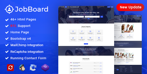 Job Board: Job Portal | Job WebSite HTML Wireframe