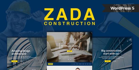 Incredible Zada - Construction WordPress Theme