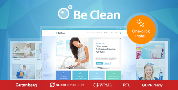 Be Clean - Cleaning Company, Maid Service & Laundry WordPress Theme