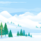 Winter Lake Landscape - GraphicRiver Item for Sale