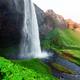 Sunrise on Seljalandfoss waterfall - PhotoDune Item for Sale