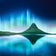 Green aurora light behind kirkjufell mountain - PhotoDune Item for Sale