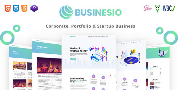 Businesio - One Page Parallax