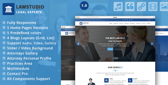 LawStudio – Lawyer and Law Firm Joomla Template