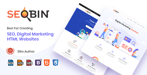 SeoBin | Digital Marketing Agency and SEO HTML Template