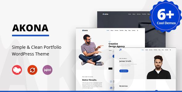 Download Akona – Multipurpose Portfolio WordPress Theme Free Nulled