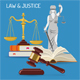 Law and Justice Concept - GraphicRiver Item for Sale