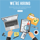 Online Employment and Hiring Concept - GraphicRiver Item for Sale