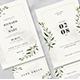 Watercolor Leaf Wedding Invitation Suite - GraphicRiver Item for Sale