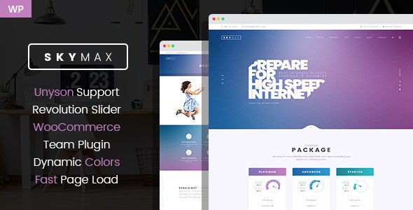 SkyMax - Internet Technologies WordPress theme