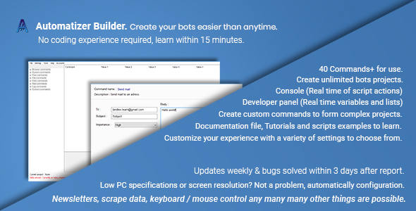 Download] Automatizer Builder Standard | Windows bots creator Nulled