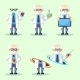 Set of Crazy Old Scientist Is Conducting - GraphicRiver Item for Sale