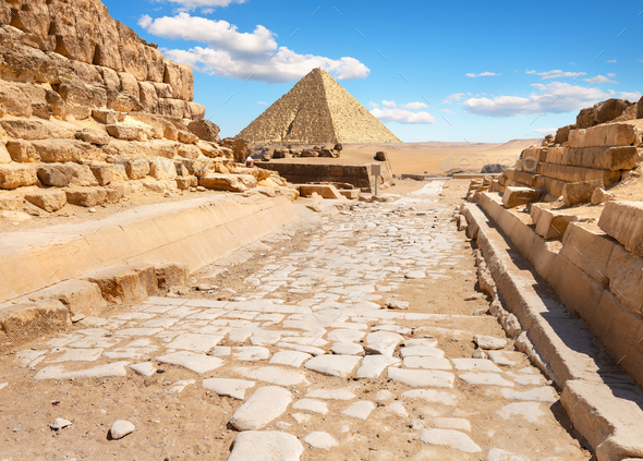 Ruins near the pyramids - Stock Photo - Images