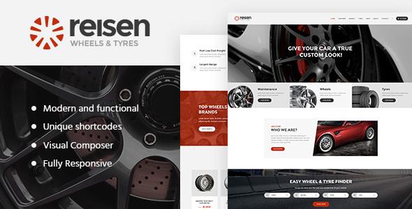 Reisen - Automechanic & Auto Body Repair Car WordPress Theme